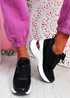 Pagy Black Wedge Chunky Sneakers
