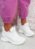 Pagy White Wedge Chunky Sneakers
