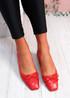 Vonno Red Square Toe Ballerinas