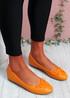 Nimey Orange Bow Flat Ballerinas
