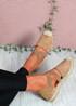 Fove Camel Espadrille Ballerinas
