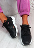 Yusa Black Chunky Sneakers