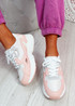Yusa White Pink Chunky Sneakers