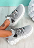 Monno Grey Chunky Trainers