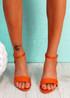 Gimmy Orange Block Heel Sandals
