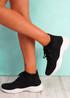 Dinni Black Sock Sneakers