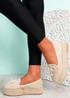 Falla Beige Flatform Ballerinas