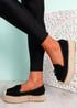 Falla Black Flatform Ballerinas