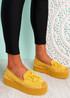 Falla Yellow Flatform Ballerinas