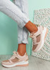 Valla Pink Wedge Trainers