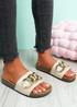 Samma Beige Platform Chain Sandals