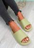 Minna Green Flat Sandals