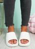Minna White Flat Sandals