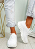 Canny White Slip On Trainers