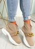 Sanny Beige Sock Sneakers