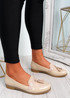 Mendy Beige Tassel Flat Ballerinas