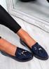 Mendy Blue Tassel Flat Ballerinas