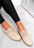 Rommo Beige Oxford Style Ballerinas