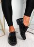 Rommo Black Oxford Style Ballerinas