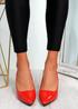 Votty Red Stiletto Heel Pumps