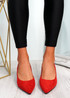 Chami Red Studded Block Heel Pumps