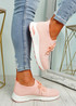 Lolla Pink Knit Sneakers