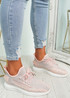 Mirra Pink Knit Trainers