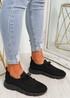 Brammi Black Knit Sneakers