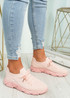 Brammi Pink Knit Sneakers