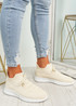 Fanno Beige Knit Sport Sneakers