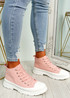 Nobby Pink Platform Trainers