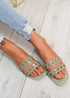 Terry Olive Front Chain Flat Sandals