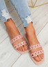 Terry Pink Front Chain Flat Sandals