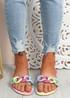 Vemma Rainbow Slip On Flat Sandals