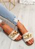 Ryo Beige Flat Sandals