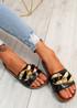 Ryo Black Flat Sandals