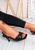 Sandy Black Bow Stiletto Sandals