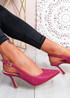 Porra Fuchsia Glitter Stiletto Pumps
