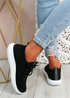 Ossy Black Knit Sport Trainers