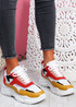 Donni White Red Chunky Sneakers
