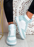 Magge Light Blue High Top Trainers