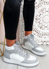 Magge Grey High Top Trainers