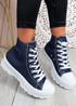 Segy Jeans Blue Flatform Trainers