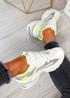 Moni White Lime Sport Chunky Trainers