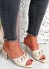 Nory Apricot Slip On Stiletto Sandals