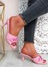 Nory Fuchsia Slip On Stiletto Sandals