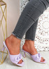 Nory Purple Slip On Stiletto Sandals