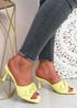 Nory Yellow Slip On Stiletto Sandals