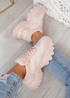 Trinna Pink Chunky Trainers