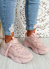 Nozzo Pink Chunky Sneakers